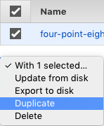 Themes duplicate via selection controls